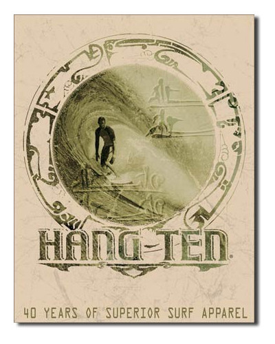 Plechová ceduľa Hang ten Good Fortune 40 cm x 32 cm