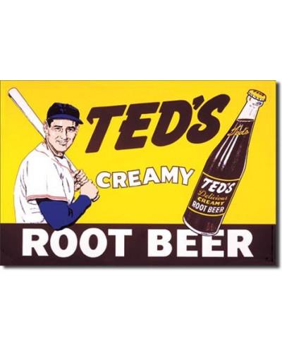 Plechová ceduľa Teds Creamy Root Beer 40 cm x 32 cm