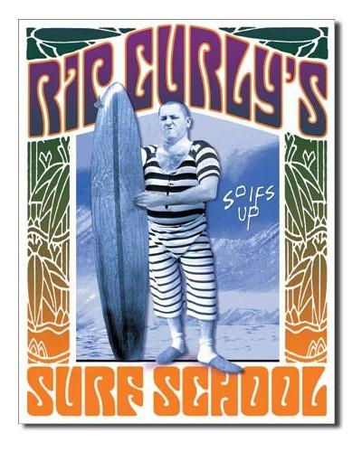 Plechová ceduľa Rip Curlys Surf School 32 cm x 40 cm