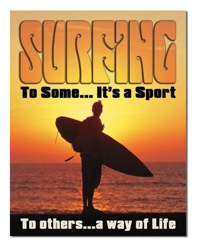 Plechová ceduľa Surfovanie - Way of Life 32 cm x 40 cm