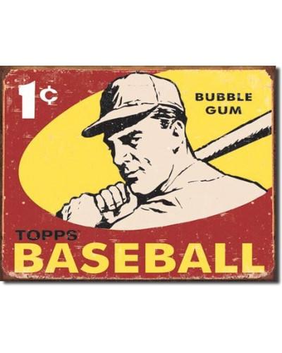 Plechová ceduľa Topps 1959 Baseball 32 cm x 40 cm