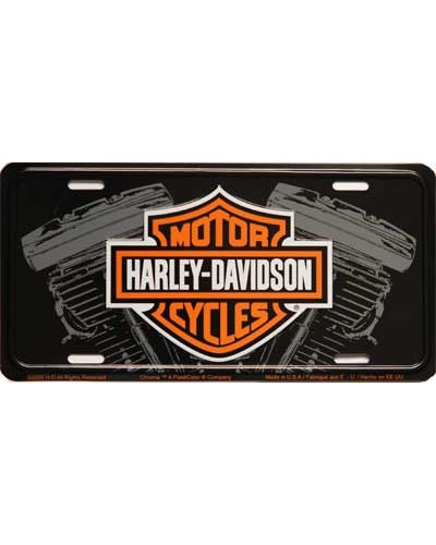 Americká ŠPZ Harley Davidson Logo w engine 15 cm x 30 cm