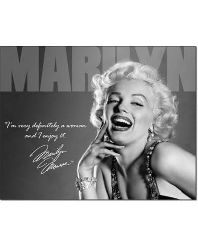 Plechová ceduľa Marilyn - Definately 40 cm x 32 cm