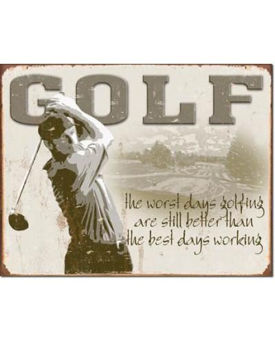 Plechová ceduľa Golf Best Days 40 cm x 32 cm