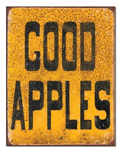 Plechová ceduľa Good Apples 40 cm x 32 cm