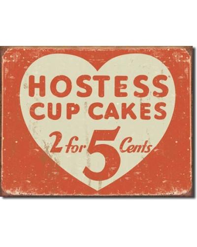 Plechová ceduľa Hostess 2 for 5 cents 42 cm x 30 cm