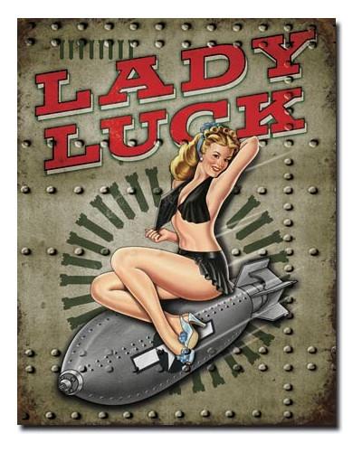 Plechová ceduľa Legends Lady Luck 40 cm x 32 cm