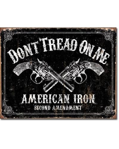 Plechová ceduľa DTOM - American Iron 40 cm x 32 cm