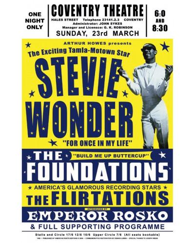 Koncertné plagát Stevie Wonder, UK, 1969