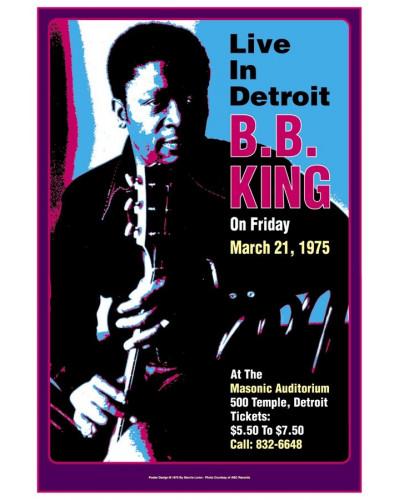 Koncertné plagát BB King, Detroit, 1975