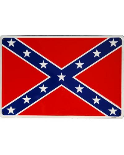 Plechová ceduľa Confederate Flag 45cm x 30cm