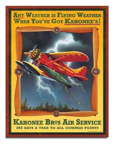 Plechová ceduľa Kahonee Air Service 32cm x 40 cm