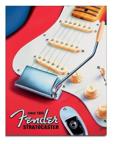 Plechová ceduľa Fender - Strat since 1954