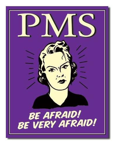 Plechová ceduľa PMS - Be Afraid 40 cm x 32 cm