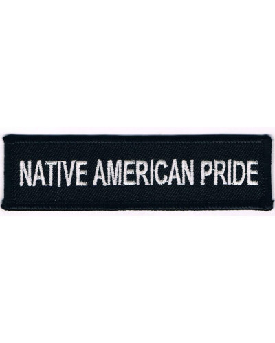 Moto nášivka Native American Pride long 3 cm x 10 cm