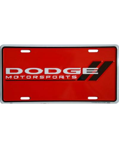Americká ŠPZ Dodge Motorsports Red