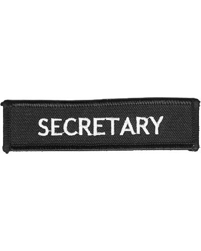 Moto nášivka Secretary white 10cm x 2,5cm