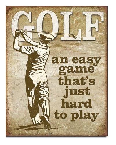 Plechová ceduľa Golf - Easy Game 40 cm x 32 cm