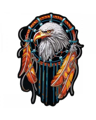 Moto nášivka BS Eagle Dream Catcher XXL na chrbát 30 cm x 21 cm