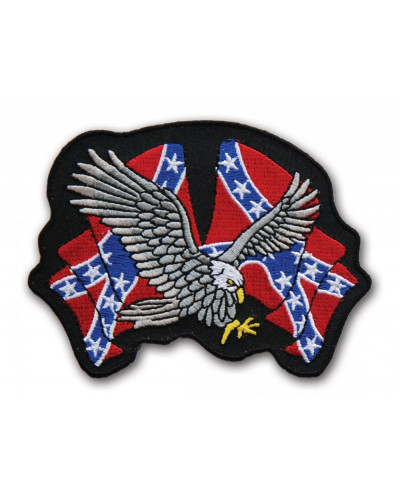 Moto nášivka Two Rebel flags Eagle