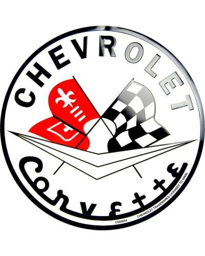 Plechová ceduľa Chevrolet Corvette round 30 cm