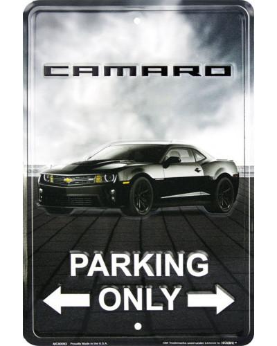 Plechová ceduľa Camaro Parking, 20cm x 30cm
