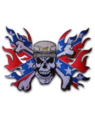 Moto nášivka Confederate Soldier XXL na chrbát 30 cm x 22 cm