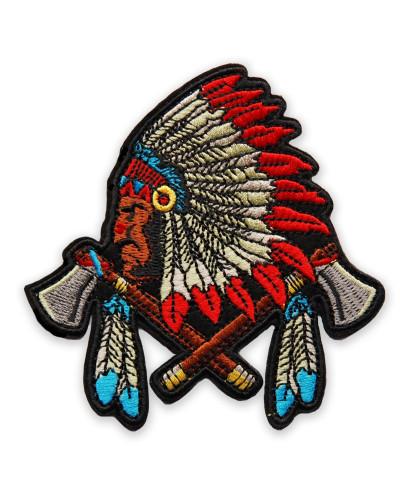 Moto nášivka Indian tomahawk 9cm x 10cm