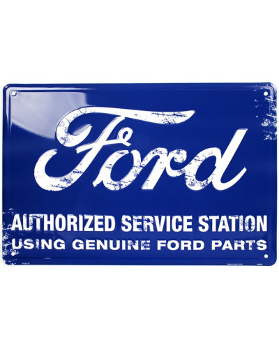 Plechová ceduľa Ford Authorized Service Station 45 cm x 30cm
