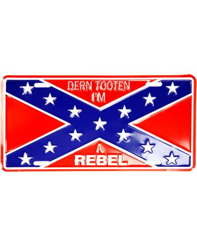 Americká ŠPZ Confederate Flag Im Rebel