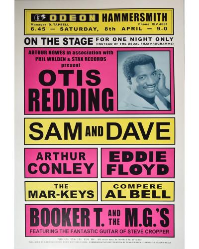 Koncertné plagát Otis Redding, The Odeon 1967