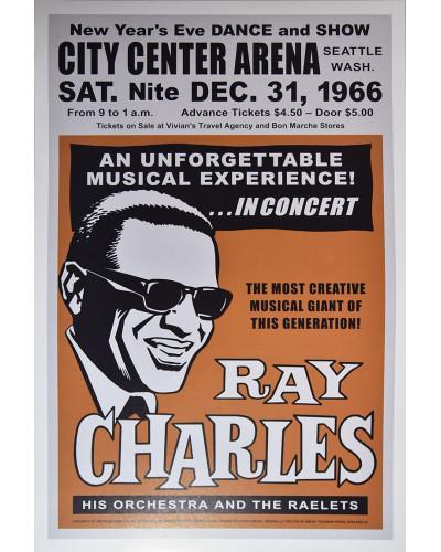 Koncertné plagát Ray Charles, Seattle 1966