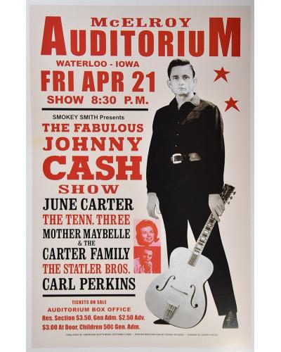 Koncertné plagát Johnny Cash, Iowa 1967