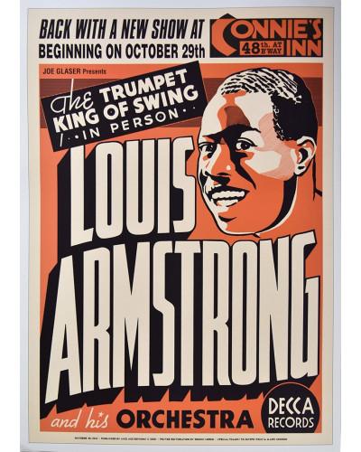 Koncertné plagát Louis Armstrong, Connies Inn, Harlem, NYC, 1935