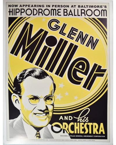 Koncertné plagát Glenn Miller 1939