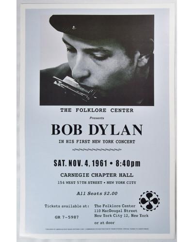 Koncertné plagát Bob Dylan 1961
