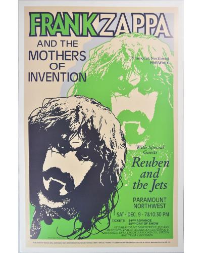 Koncertné plagát Frank Zappa 1972