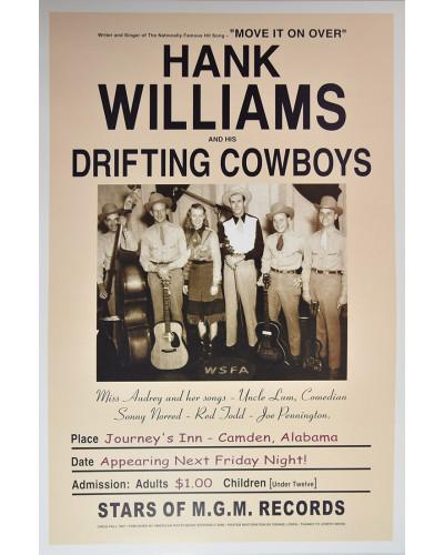 Koncertné plagát Hank Williams, Alabama, 1947