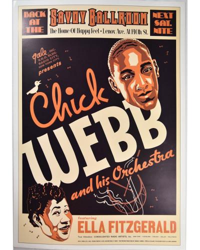 Koncertné plagát Chick Webb, 1935