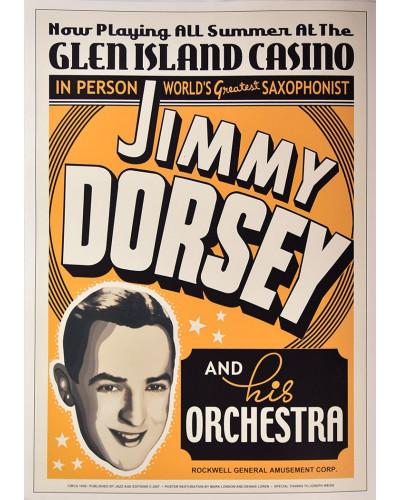Koncertné plagát Jimmy Dorsey, Glen Island Casino, NY, 1936