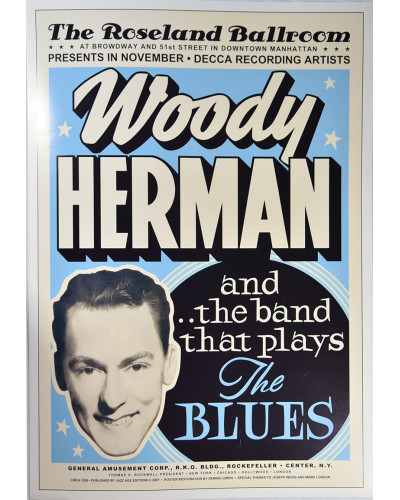 Koncertné plagát Woody Herman, 1936