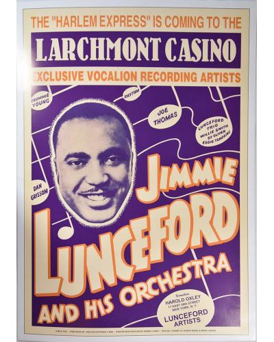 Koncertné plagát Jimmie Lunceford, 1938