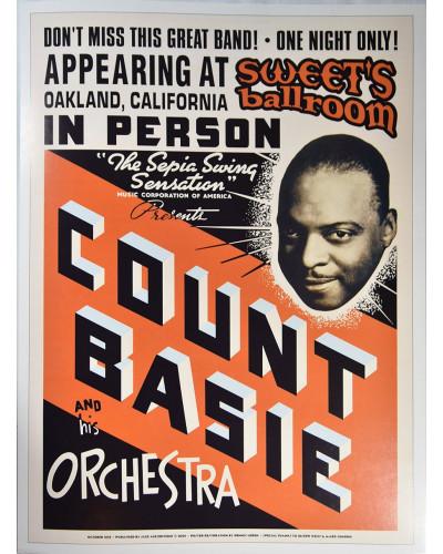 Koncertné plagát Count Basie, 1939