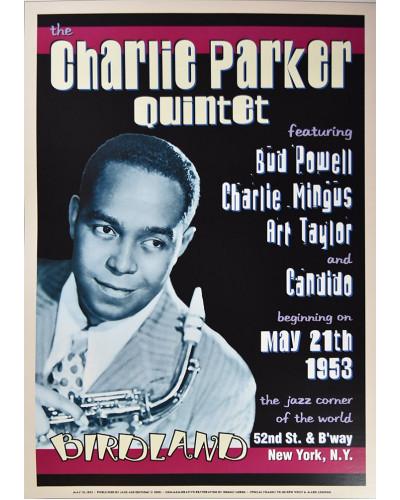 Koncertné plagát Charlie Parker Quintet, Birdland in NYC, 1953