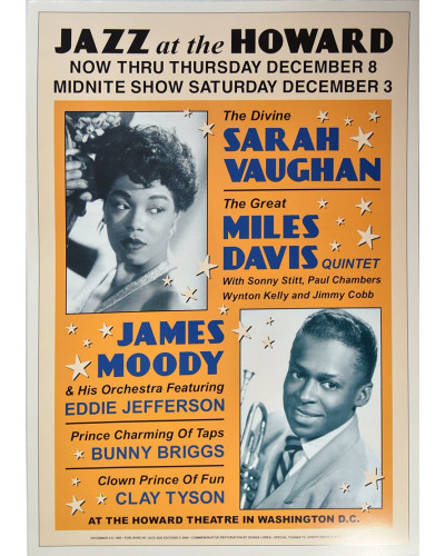 Koncertné plagát Sarah Vaughan + Miles Davis, Washington DC, 1960