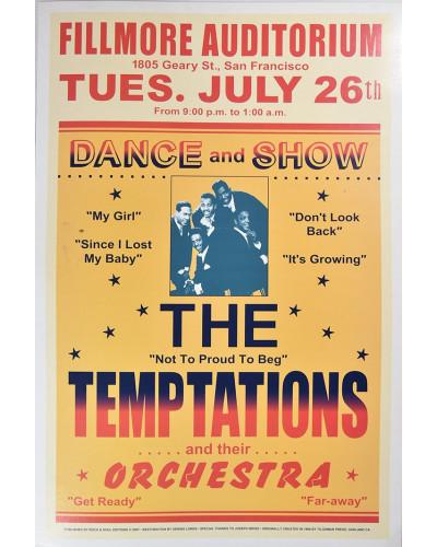 Koncertné plagát The Temptation 1966