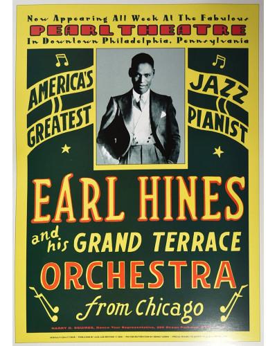 Koncertné plagát Earl Hines, Pearl Theatre, Philadelphia, 1929