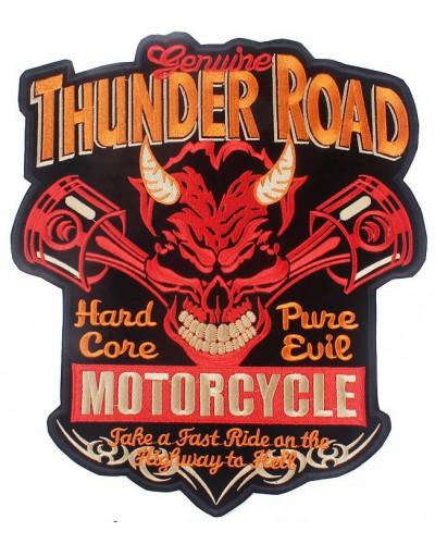 Moto nášivka na chrbát Thunder Road- XXL