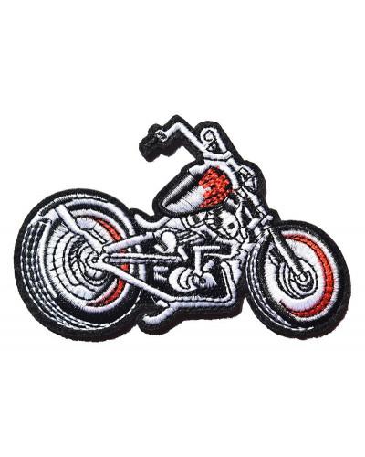 Moto nášivka Rockabilly motocykel 10 cm x 7 cm