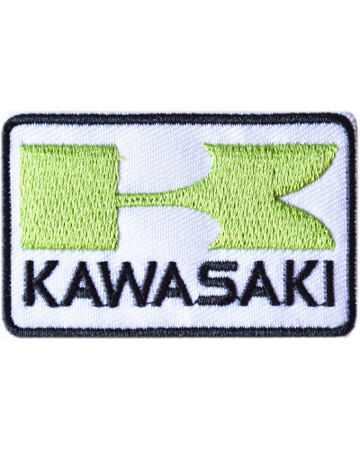 Moto nášivka Kawasaki zelená 6 cm x 4 cm